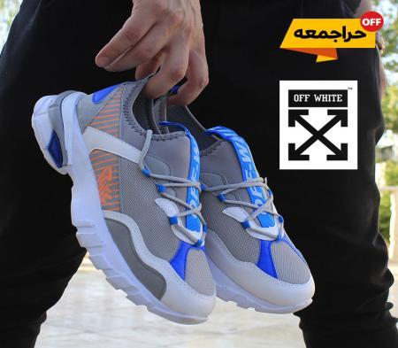 کفش مردانه off whiteمدل Tiho(طوسی آبی)